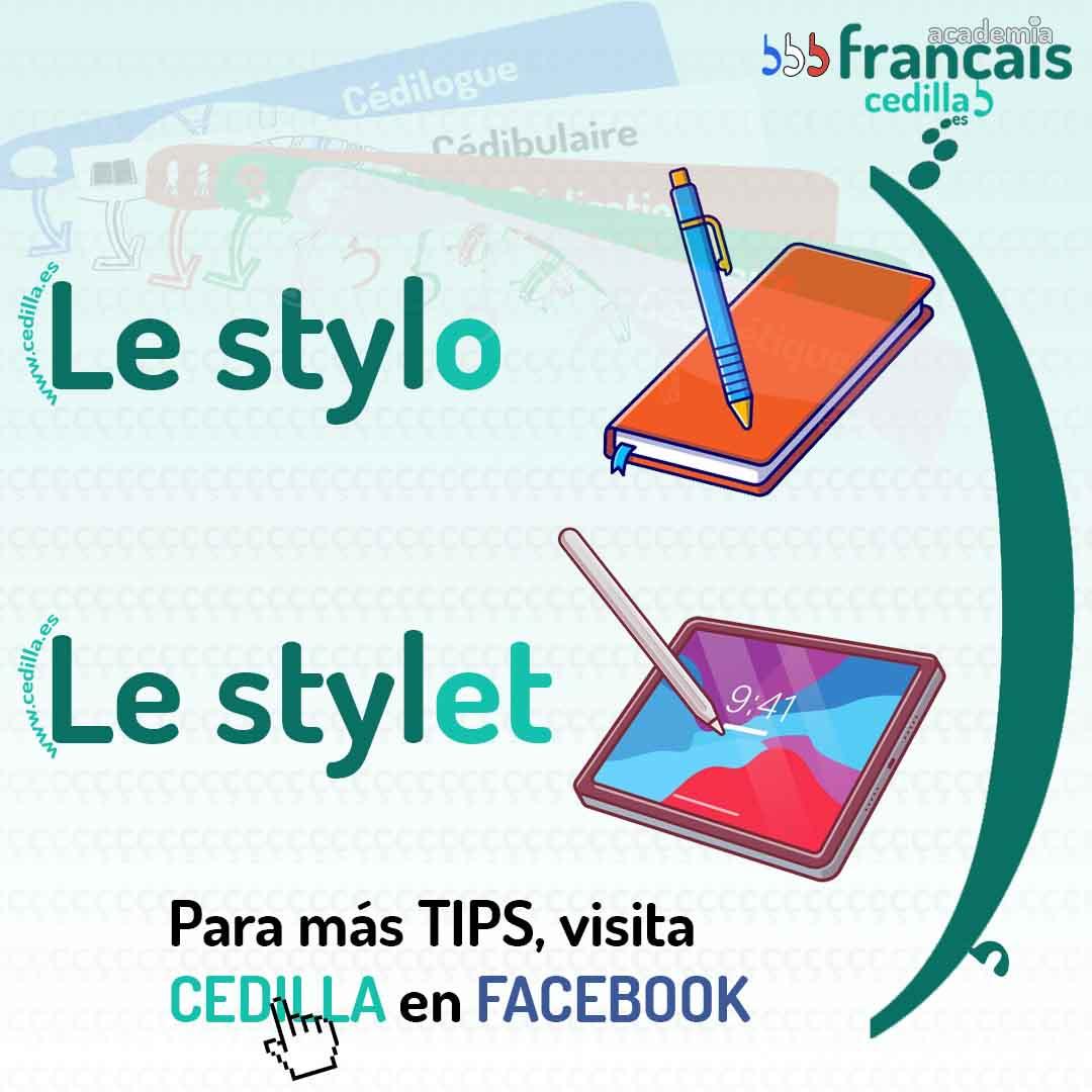 stylo papel stylet tablet frances cedilla